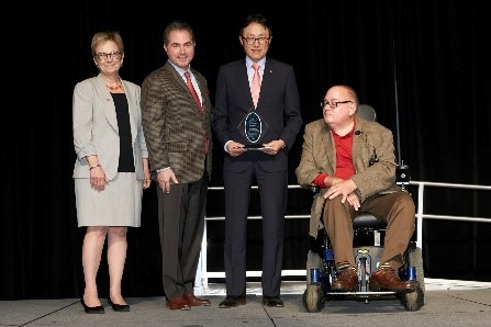 Receiving the 2016 Harry Reid Silver State Research Award